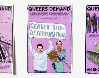 Poster: Queers Demand Gender Self-Determination