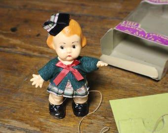 Vintage Childrens World Self Walking Doll Sally Scotsgirl