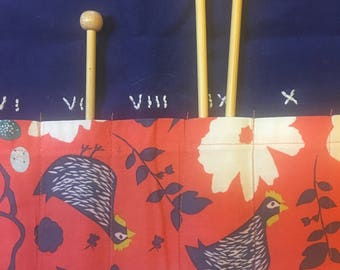 Little Blue Hen Knitting Needle Case