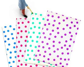 "200 Pack - 10"" x 13"" Pink|Teal|Purple|Blue Polka Dot -Flat Poly Mailers, Self Sealing Flat Envelope Mailers, Business Envelopes, Mailer Bags"