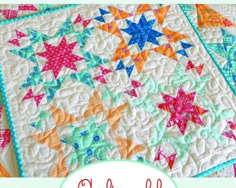 Paper Pattern for Star Bright Mini Quilt