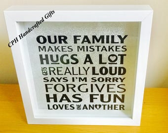 Family box frame picture