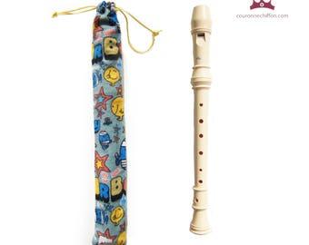 Recorder case, Pouch Flute, Flute bag, Flute pouch, Flute case
