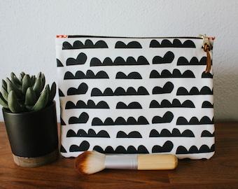 Black & White Patterned Makeup Bag