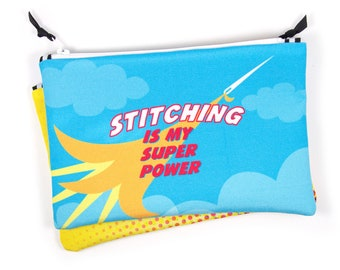 Notions Bag, Embroidery, Sewing, Stitcher, Super Hero