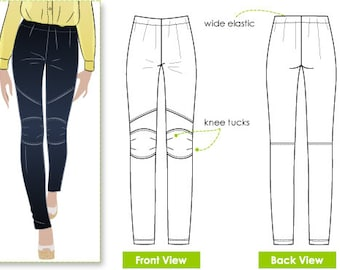 Cassie Stretch Woven Pant // Sizes 10, 12 & 14 // PDF Women's Sewing Pattern for Instant Download