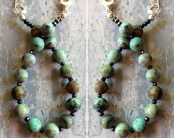 African Turquoise & Crystals