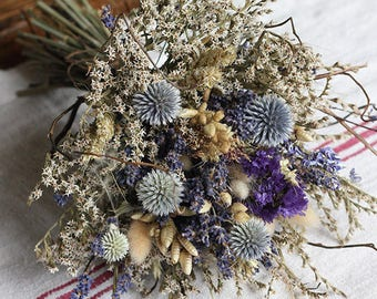 Bridal Posy - Blue Moon - Dried Flowers