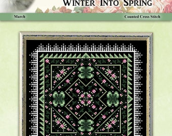Winter Into Spring March Counted Cross Stitch Pattern by Pamela Kellogg