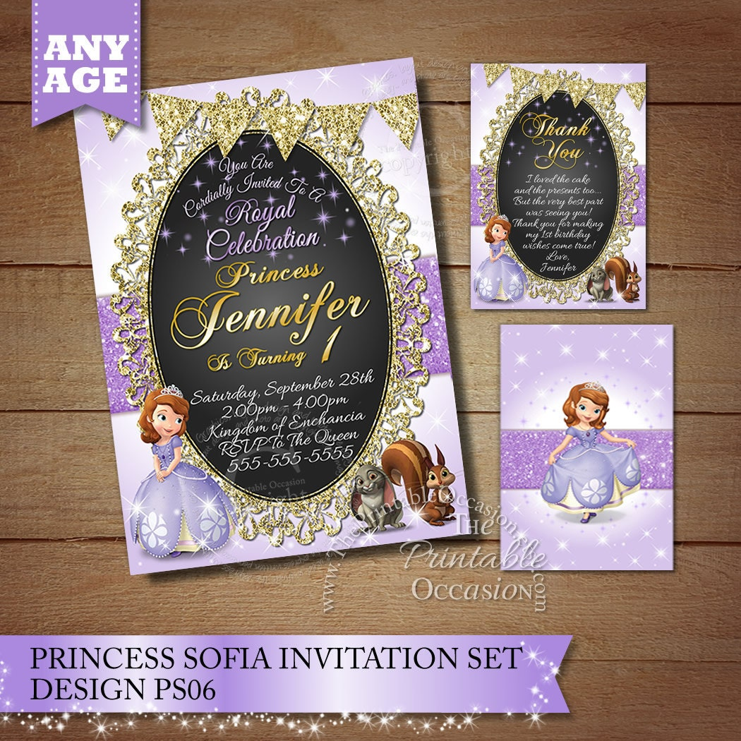 Princess Sofia Birthday Invitation Princess Photo Invitation