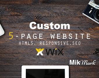 Wix website |  Custom website design, 5-page | Landing page | HTML5 SEO responsive website
