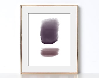 Painting Print Digital Download Printable Art Watercolor Print Digital Art Sweet Print Tight Art Monochromatic Print Handmade Print Cali Art