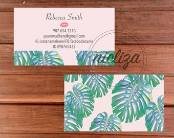 Lip business card etsy lipsense business card tropical business card lipsense marketing lipstick business card makeup colourmoves Gallery