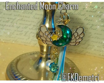 Enchanted Moon Resin Charm Kawai Bezel Fantasy Art Decoden