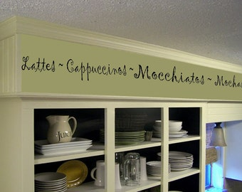 Quick View. More Colors. Coffee Kitchen Words Border Vinyl Wall ...