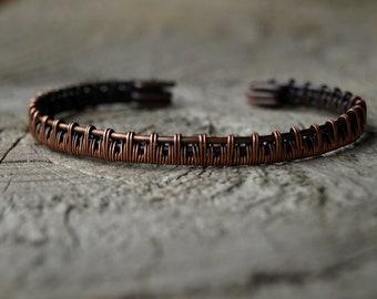 Woven Copper Cuff Bangle