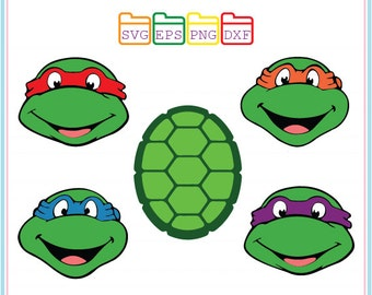 Teenage Mutant Ninja Turtles, Svg Dxf Png Eps,Cutting File,Studio Cut Files,Silhouette Studio,Cutting Machines,Cricut Cameo,Instant Download