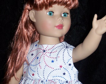 4th of July Stars Stars Everywhere top and pants American Girl