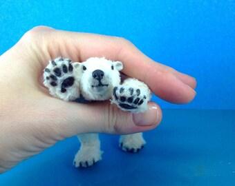 Realistic polar bear cub Teddy Bear  OOAK white polar bear