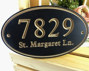 Modern Home Address - Outdoor Address Sign - House Number - House Warming Gift - Our New Home - Street Address Sign - Personalized Home