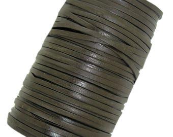 Dark Brown thin Decorative leather laces/cord