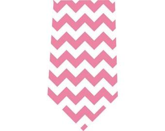 Men's Tie Pink Chevron Necktie