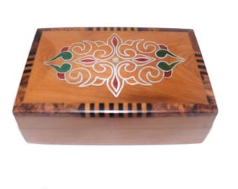 Wooden Casket Box Crate Jewelry Thuja Orient