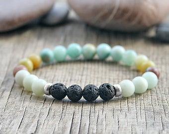 Yoga bracelet Essential oil Diffuser bracelet Gemstone bracelet Aromatherapy diffuser jewellery Beaded bracelet Diffuser oil