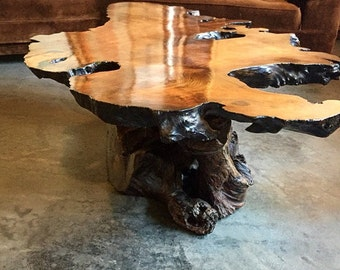 Burl end table Etsy