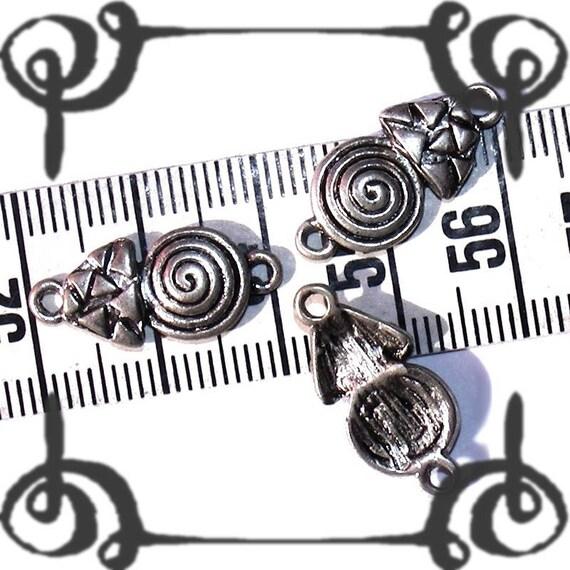 1 Perle Connecteur Spirale 21x9mm