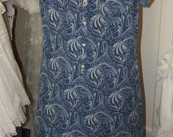 Liz Claiborne Blue Tencel Lounge Dress