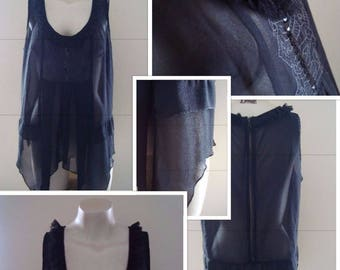 80's Sheer 'Rock Chick' Top (M)