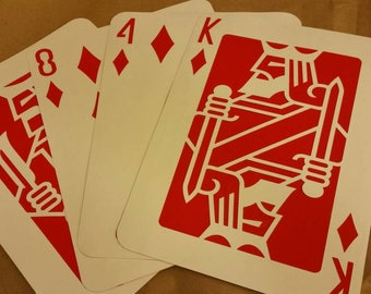 8x10 Playing Cards
