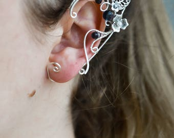 Elf Ears Ear Cuffs - Elven Ear Cuff - Boho Jewelry Bohemian Floral Freespirit