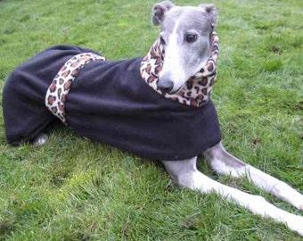Leopard Greyhound Fleece Coat