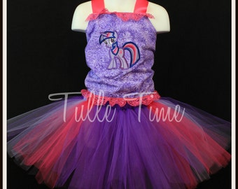 My Little Pony Twilight Sparkle  birthday corset  tutu dress any size 12m 18m 2t 3t 4t 5t 6 7 8