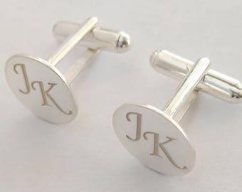 Wedding Cufflinks, Groomsmen Cufflinks, Custom Monogram CuffLinks, Personalized Cufflinks Groom,  Engraved Cufflinks, Cuff links Custom