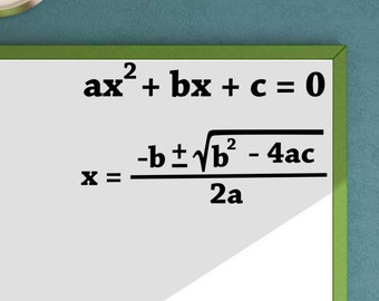 Quadratic Formula Quadratic Equation Math vinyl wall decal School Classroom Teacher Decal Educational