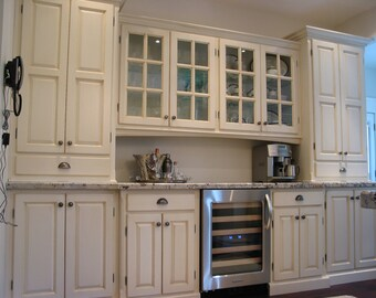 Custom Kitchen / Display Cabinets / Butler's Pantry / French Country Kitchen / Custom Interiors By Harvest Treasures / Farmhouse Kitchen