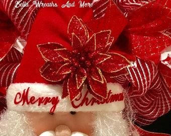 A very sparkley Santa Wreath