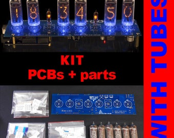 DIY KIT for Shield Nixie tubes clocks IN-14 NCS314. Support GPS1 sync, Remote, Temperature