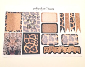 Leopard Theme Planner Sticker Sheet