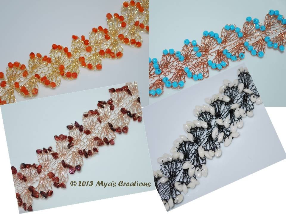 PDF Crocheted Wire Bracelet Tutorial How to make a wavy