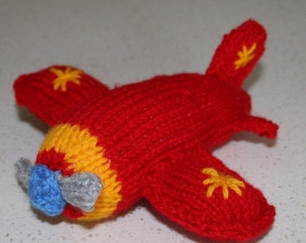 Airplane - INSTANT DOWNLOAD PDF Knitting Pattern