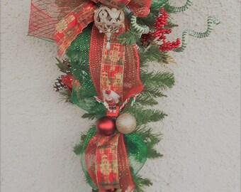 Tear drop handmade Christmas Wreath