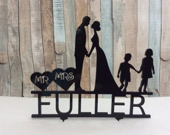 Laser cut acrylic cake topper