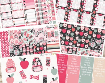 SCHOOL GIRLS// Planner Stickers// Individual Sheets sized for the Erin Condren Life Planner