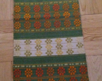 Vintage Swedish Handwoven Wall Hanging or Table Runner / Table cover / wool