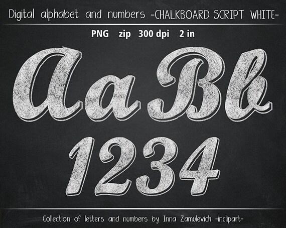 Chalk Clipart Chalk Alphabet Numbers Letters Symbols