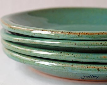 Pottery Plates, Stoneware Plates, Dinnerware, Salad plate, Handmade plates, Pottery Dinnerware, Ceramic dinner plates, Plate set